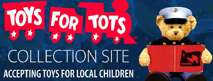 2013 Toys 4 Tots : Custom logos toy drive we are